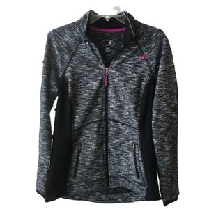 Tangerine Gray Space Dye Active Athletic Jacket M